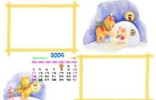 2009年1月维尼日历图片