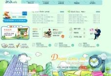 儿童教育天地网页模板图片