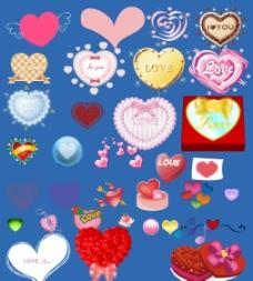 精美情人节心形素材图片
