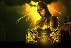 金色强悍桌面图片