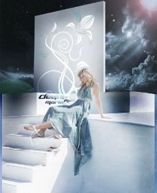 蓝色天使图片