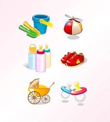 婴儿用品矢量素材2图片