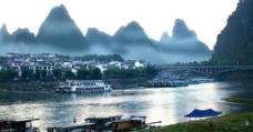 阳朔清晨图片