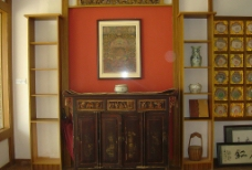 茶楼内部神台图片