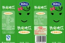 完达山芦荟醋饮料包装设计图片