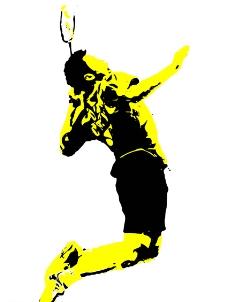 打羽毛球的人物图片免费下载,打羽毛球的人物设计素材图片