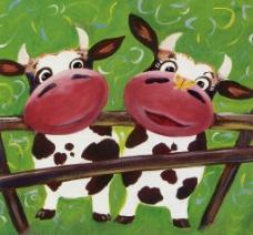 可爱小牛图片