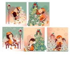 圣诞节主题(韩国iClickart四季可爱女孩专辑)图片