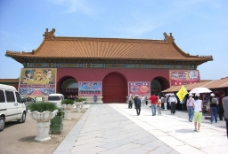 明清宫殿大门图片