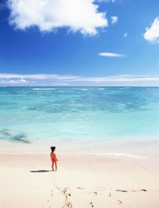 儿童沙滩嬉戏图片
