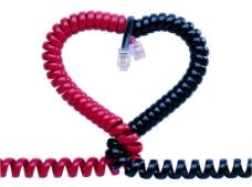 心形电话线图片