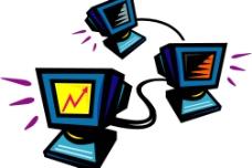 电脑连线图片