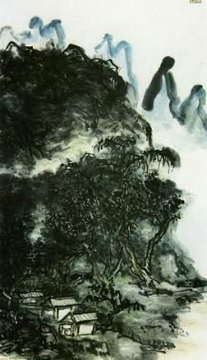 黄宾虹夏-木阴阴图轴图片