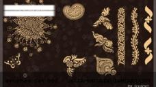 古典花边笔刷图片