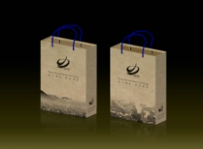 德清旅游牛皮纸拎袋设计图片