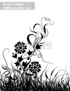 背景花纹 花边 韩国花纹 装饰花纹 矢量欧美花纹元素 纹理花纹