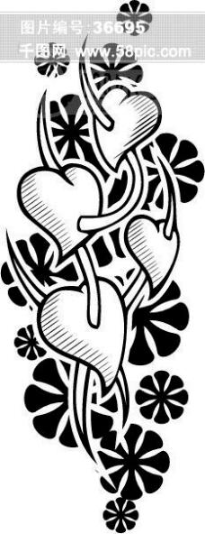 黑白背景花纹 花边 韩国花纹 装饰花纹 矢量欧美花纹元素 纹理花纹酒吧 时尚绚丽超绚