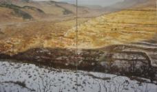 黄箫风景雪景油画图片