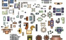 M1100 室内家具平面模块图片
