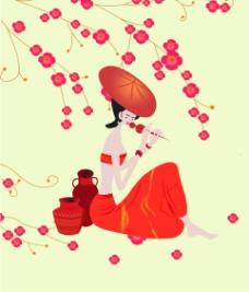 葫芦丝女孩图片