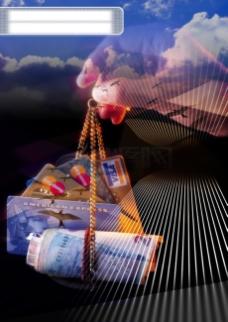 商业 金融 金钱 光影 背景 特效