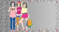 时尚女性特写图片