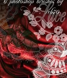 韩国漂亮笔刷花纹