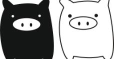 猪娃   卡通猪图片