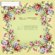 HanMaker韩国设计素材库 背景 底纹 花纹 边框 相框 图案
