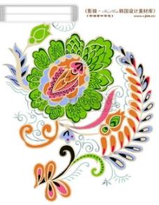 HanMaker韩国设计素材库 背景 花纹 花坏 花 底纹 缤纷 染印 纹理 颜色 斑驳 鲜艳