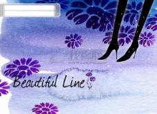 HanMaker韩国设计素材库 底纹 背景 腿 花纹 水墨 线条 花藤 花 剪影