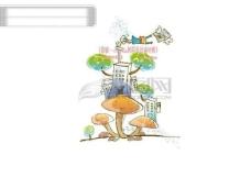 线条风商务故事 梦幻儿童卡通生活矢量素材 HanMaker韩国设计素材库