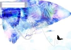 花纹花朵 时尚背景底纹 边框 韩国花纹图库2 psd分层素材源文件