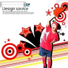 动感运动 音乐元素 时尚元素 花纹背景 韩国花纹图库2 psd分层素材源文件