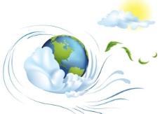 动感地球插画矢量素材图片