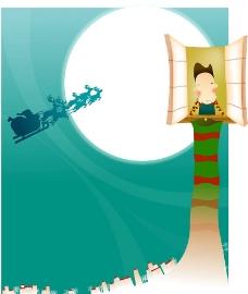 卡通冬季主题插画图片