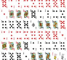 精细全套扑克模板eps图片