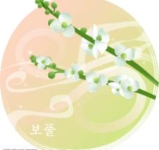 矢量花卉 白花图片