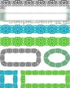 中国古典元素 线条 画框 边框 框架 花纹 相框 精致 图形 框架 拿来大师之古建瑰宝 火云携神 小品王全集 EPS源文件 素材