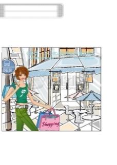 女性服饰购物 女人时尚逛街 矢量素材矢量图片 HanMaker韩国设计素材库
