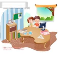 快乐署假生活 假日生活 卡通人物 矢量素材矢量图片 HanMaker韩国设计素材库