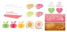 粉色系列图形矢量素材图片