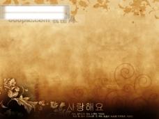 背景 韩国 古典