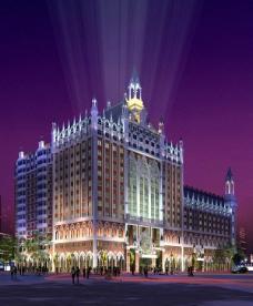 夜景高层建筑图片
