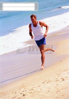健康 休闲 户外 运动 海边 游泳 享受 放松 轻松 海滩 广告素材大辞典