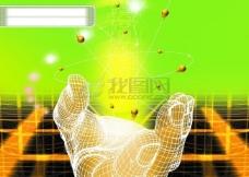 科技 科学 数字 仪器 概念 抽象 线条 光线 背景 视觉 网络 通讯 广告素材大辞典