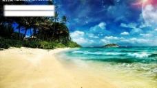 海滩沙滩背景图片
