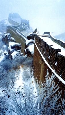 八达岭长城雪景