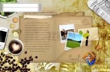花草 手机 食品 树叶 报纸 花盆 风景 饼干 PSD分层源文件 韩国花纹图库