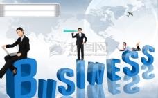 人物 服务 工作 地球 地图 蓝色背景 字母 动作 表情 PSD分层源文件 韩国花纹图库